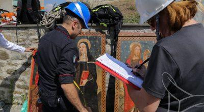 Recupero e messa in sicurezza Museo di Amatrice<br>MiC e Carabinieri Tutela Patrimonio Culturale